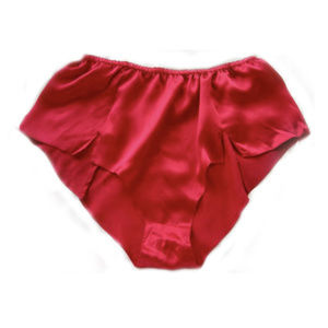 Other - VTG new old stock RED SILK CHARMUESE BOY PANTIES S